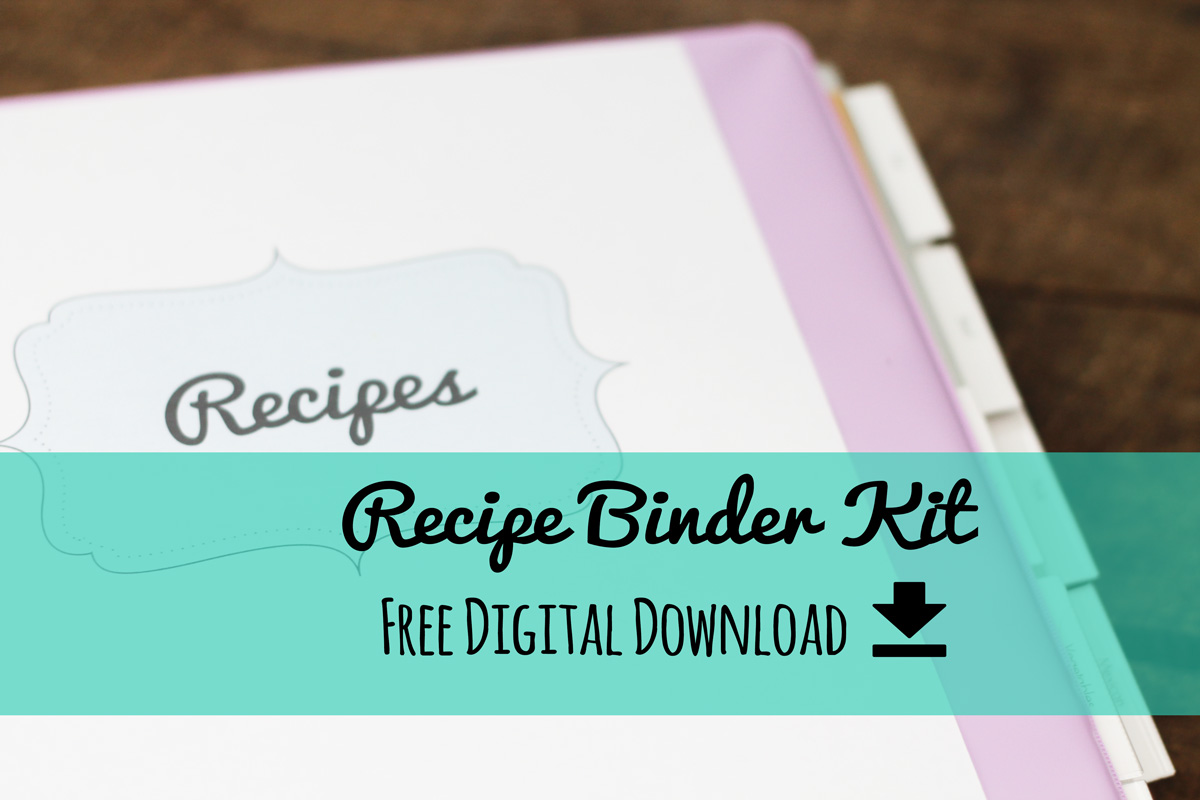 Shocking image for free printable recipe binder kit
