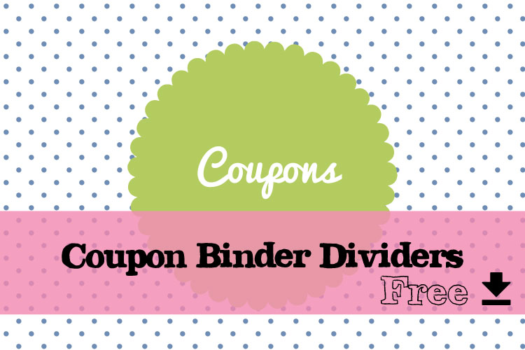 Coupon Binder Dividers Free Download