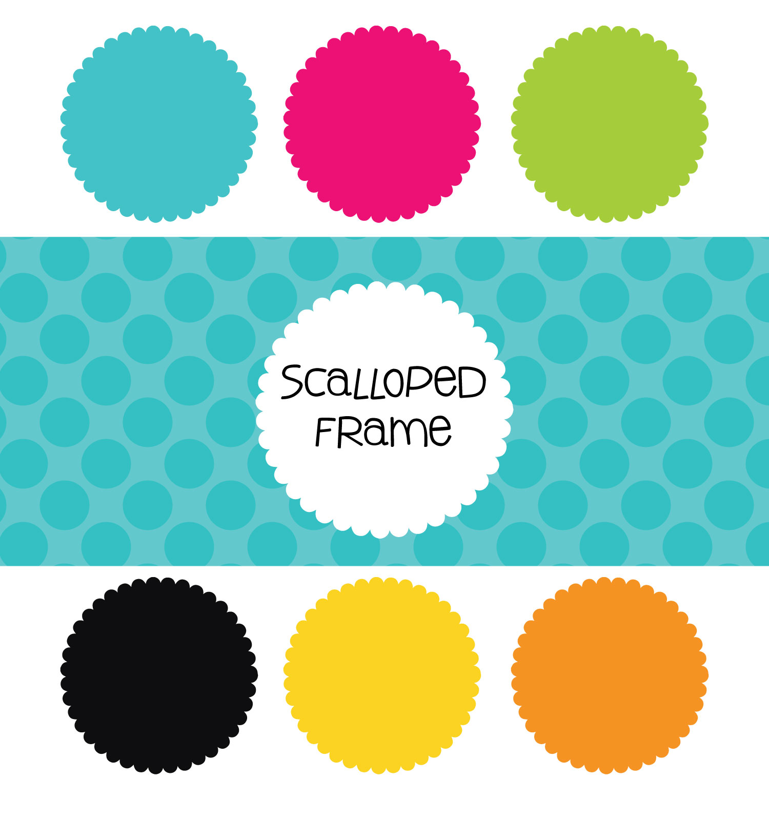 Scalloped Frames Clipart- Free Download