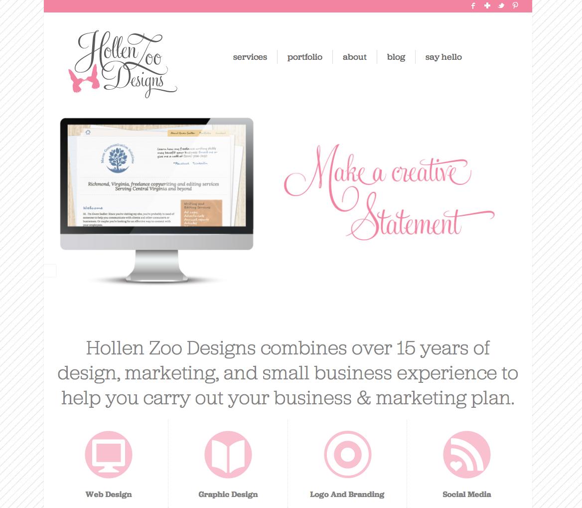 Hollen Zoo Designs New site