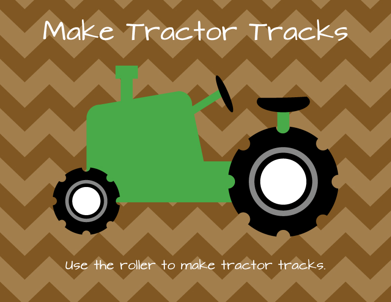 Erika brent sage zoo tractor tracks art for Tractor art projects