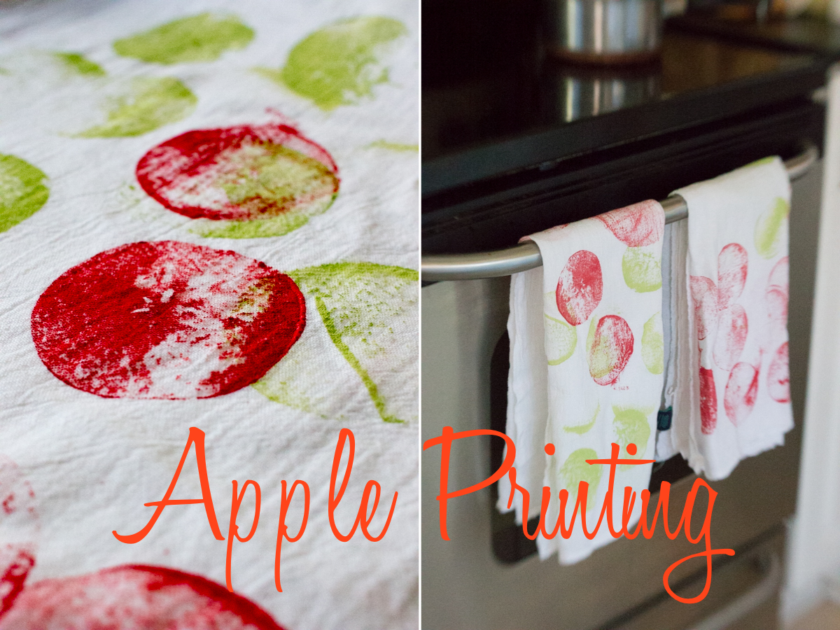 Apple Printing with a Toddler