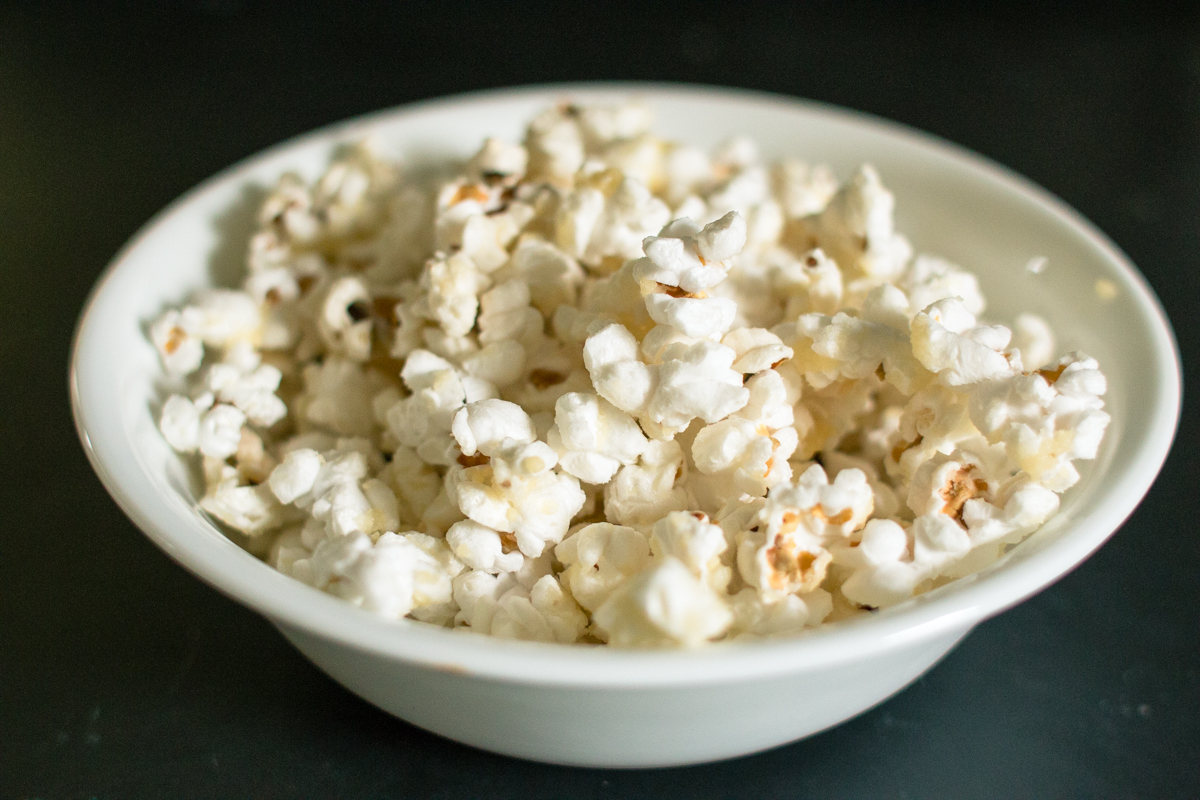 Making Popcorn- the finished product