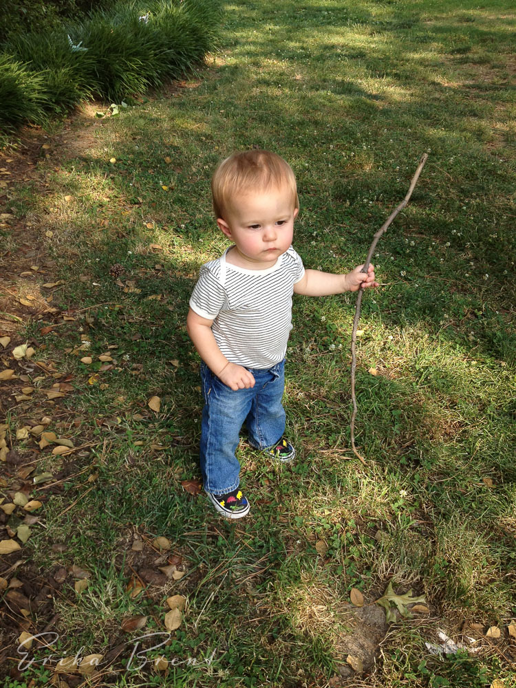Kodiw with his stick