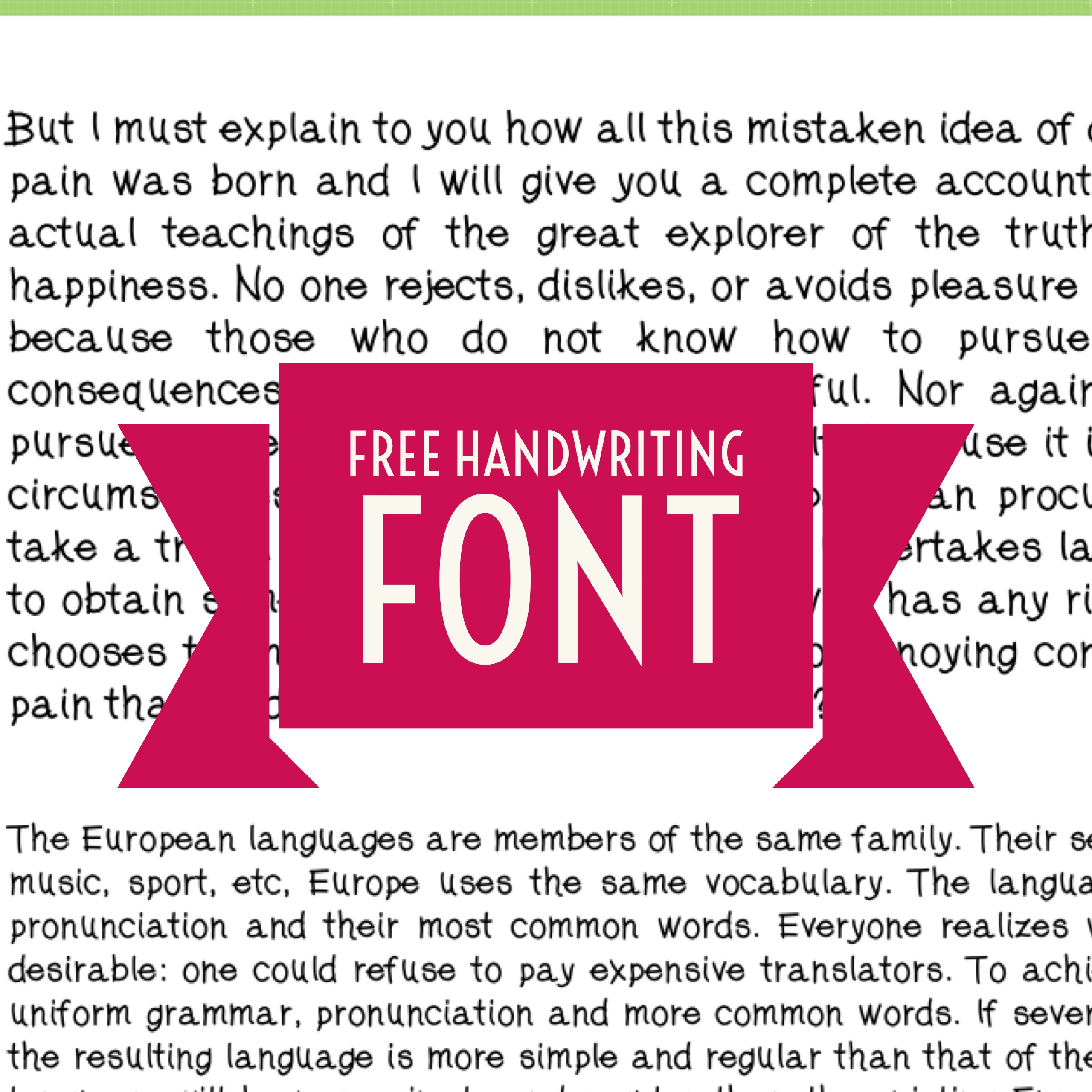 Erika's Handwriting Font